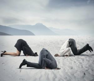 Huvud i sand